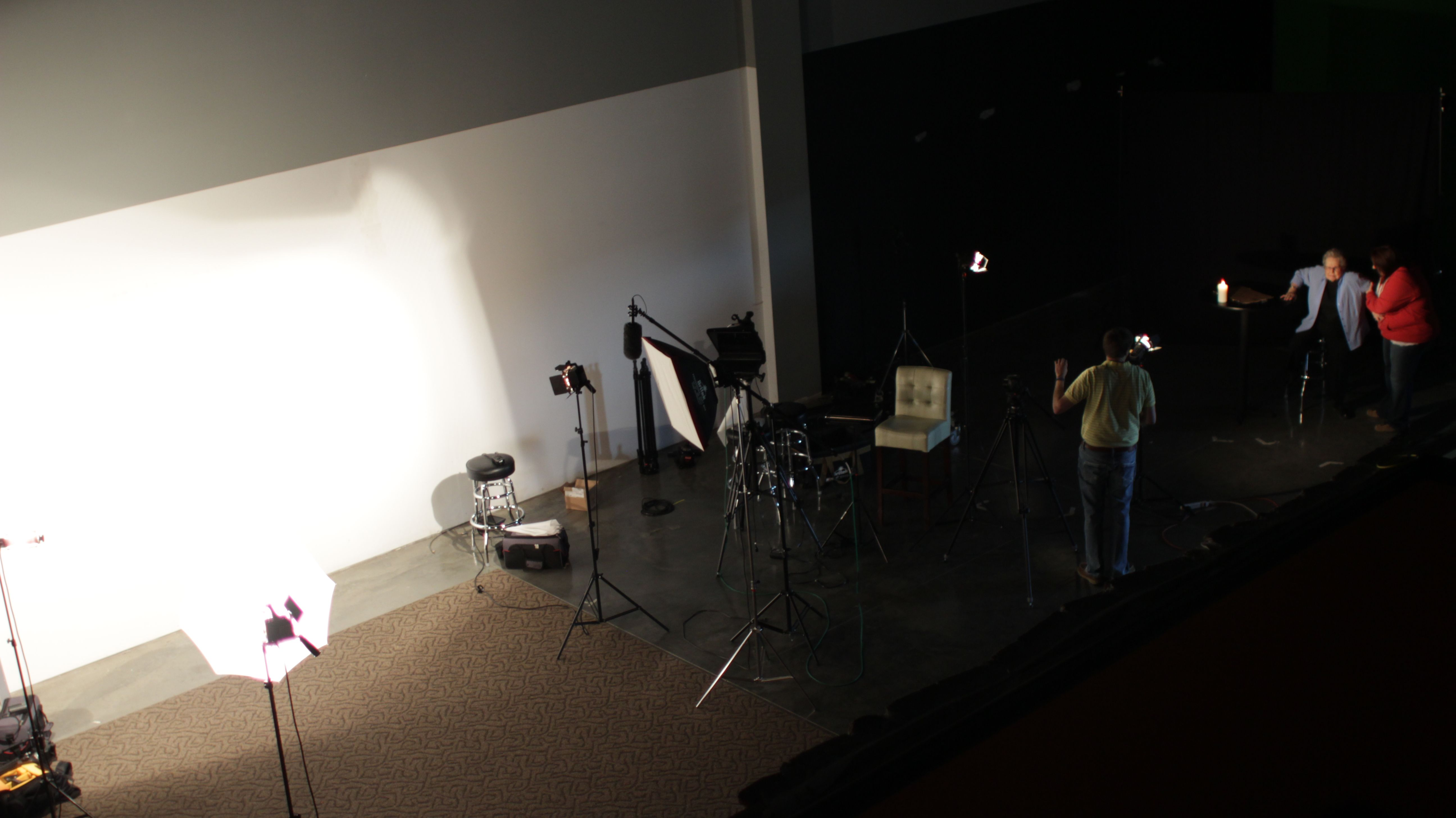 In the making of the first Tri-State commercial.