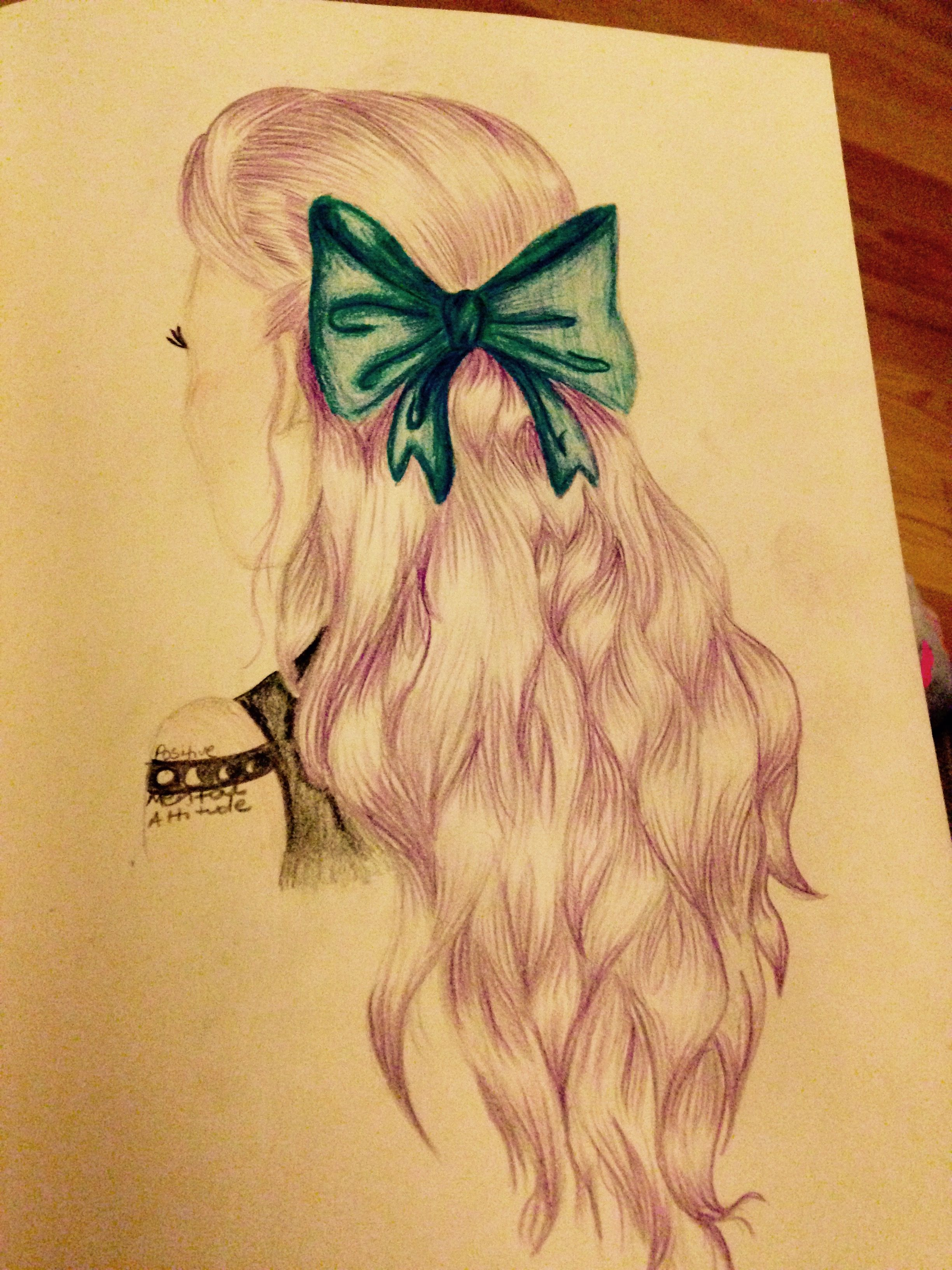 My best friend gave me a photo to draw but i thought it was too girly so i hade it a little more alternative!