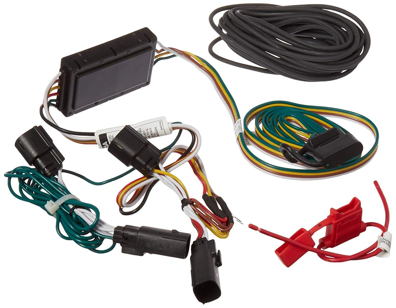 small resolution of curt manufacturing 56320 custom trailer wiring harness provides a 4 way flat connector for