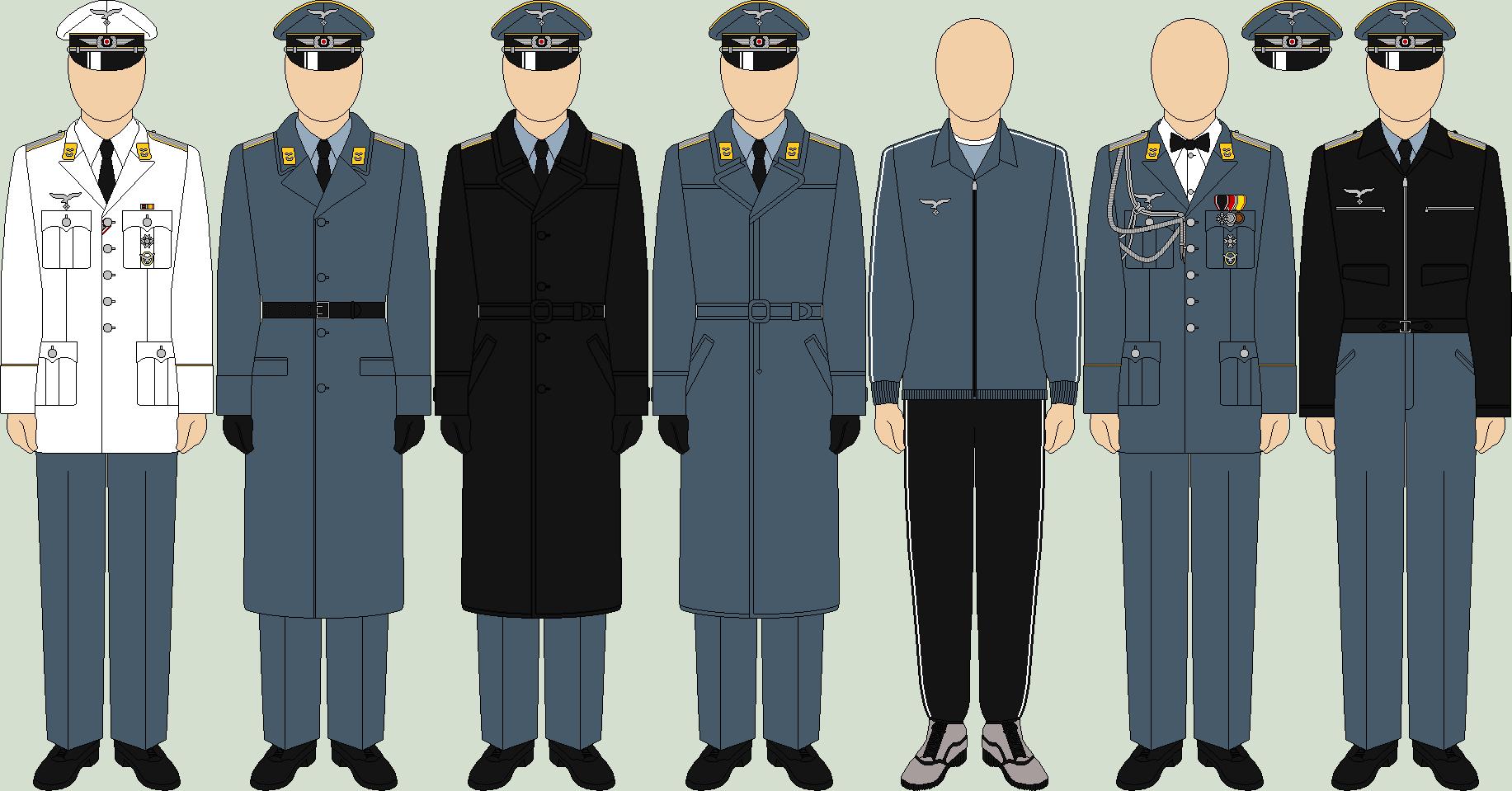Die Luftwaffe, undress uniforms  by TheFalconette deviantart
