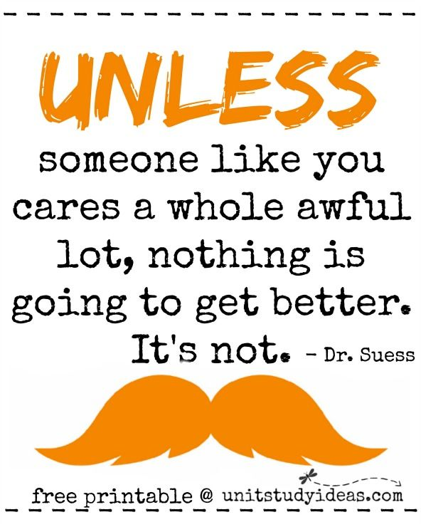 Lorax Dr Seuss Printable Quotes