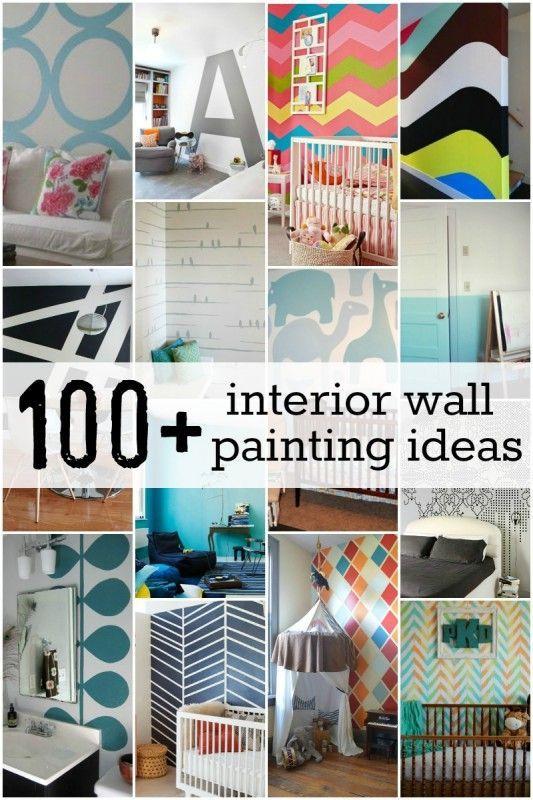 100 interior wall painting ideas diy wall art pinterest