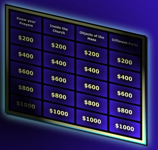 Mass jeopardy game (online) Games, icebreakers and party ideas - blank jeopardy template