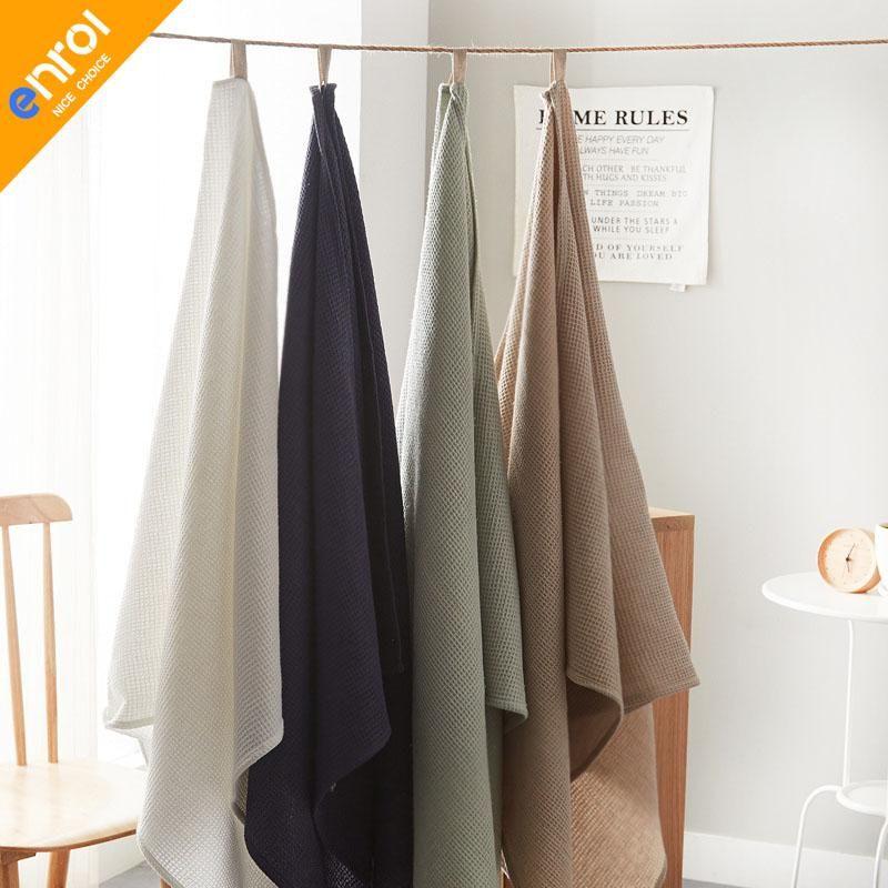 Bath Towel For Adult Cotton Linen Large Size Solid Color