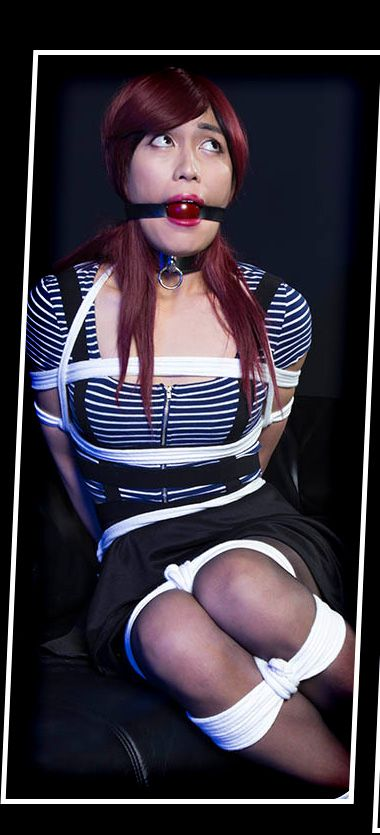 Trannies In Trouble - Crossdressing Bondage with Sandra Gibbons and friends  - Crossdressers and transvestites in bondage, helplessly bound, gagged and  tied