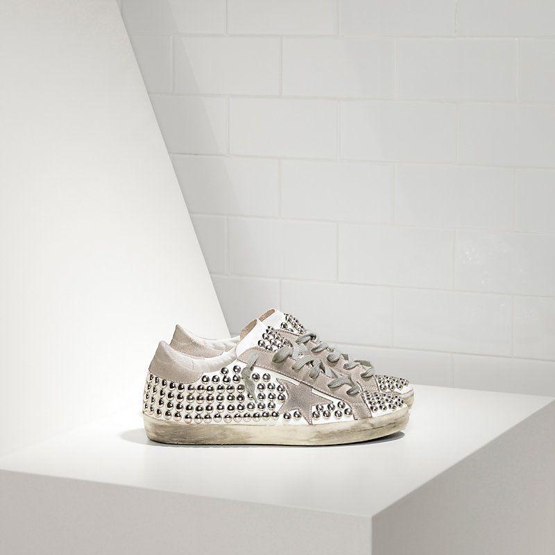 68201fc65bac Boutique Nouvelle Collection 2016 Golden Goose Super Star Chaussures In  Leather With Suede Star Femme Blanc Hommetal en ligne, expédition en vente  avec une ...