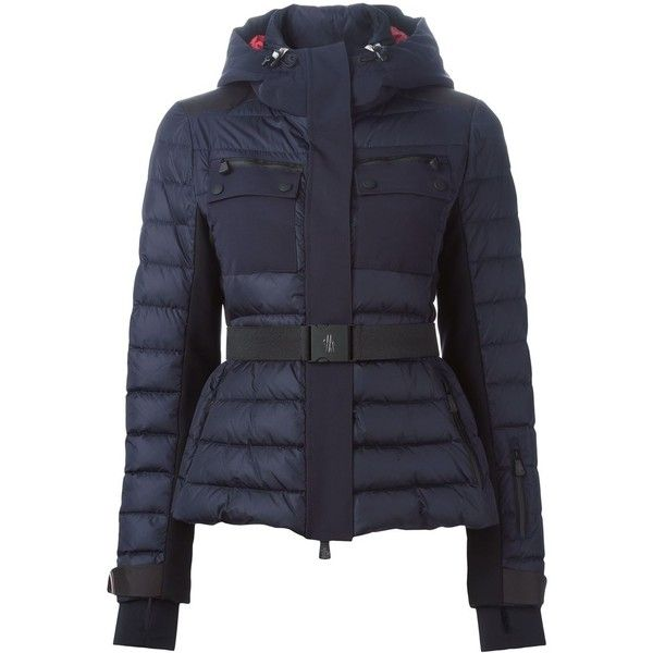 Moncler Grenoble padded hooded jacket (£960) ❤ liked on Polyvore featuring outerwear,