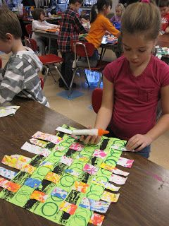 Lake and Hartville Elementary Art: SNEAK PEEK at 1st Grade KENTE CLOTH WEAVING