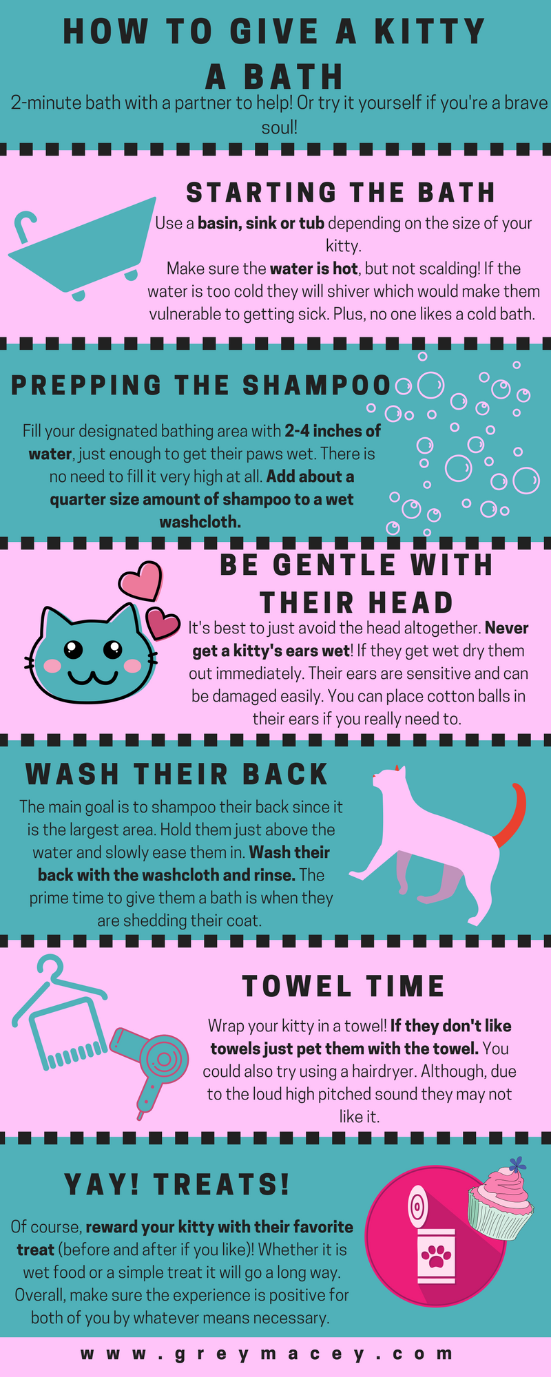 Giving A Kitty Their First Bath Cat Care Tips Pet Hacks Cat Advice