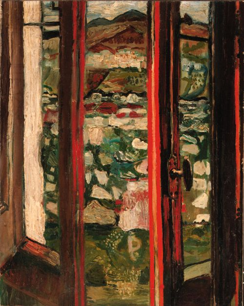 poboh:  View from a Window, Anticoli, 1954, John Bratby. (1911 - 1990)