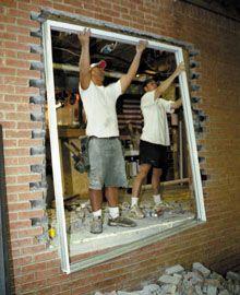 Install A Patio Door To Brick Wall Patio Door