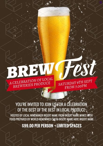 Brewfest Poster Promotional Campaign Graphics Customise