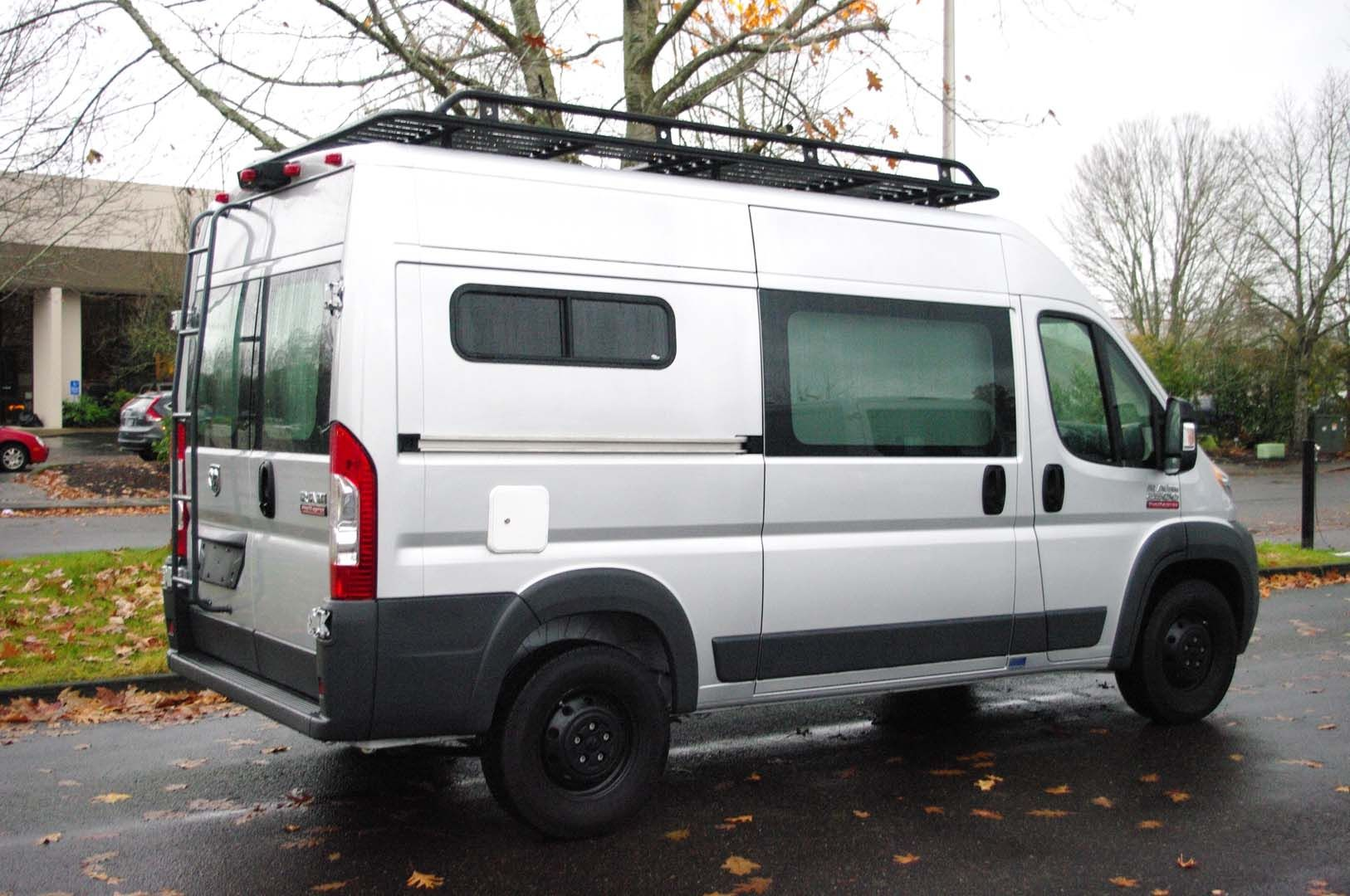There Is A Lot Of Stuff Going On In This 136 Wheelbase Promaster Clifford Arrow 3 Wiring Diagram Custom Built Aluminum Roof Rack To Be Able Hang Out And Get The Perfect Pic Full