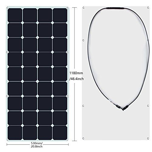 Kingsolar 120w Sunpower Semi Flexible Solar Panel Bendable Solar Panel For Boat Yacht Roof Power Flexible Solar Panels Off Grid Solar Power Solar Power System