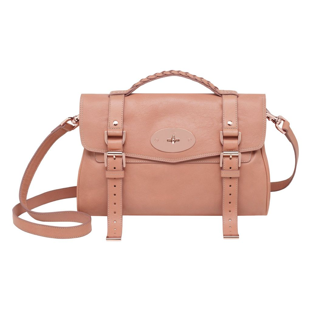 ed5f184ae5d9 Mulberry Alexa Satchel in Plaster Pink .. Love the matching rose gold  hardware!