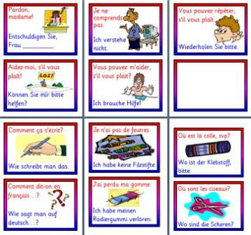 mfl frenchgerman resources common phrases in french and