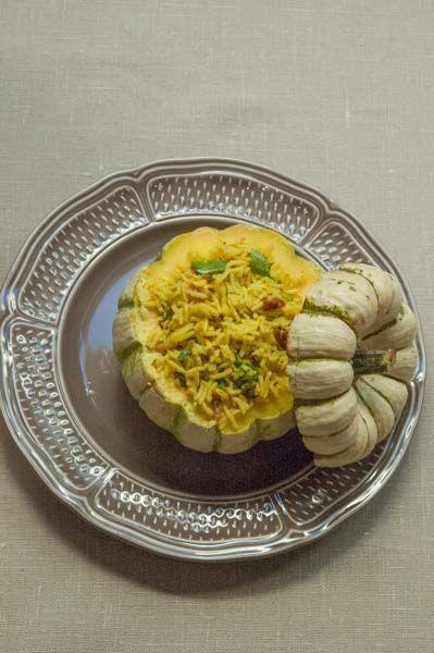 Courge farcie au Riz Goa – Beendhi