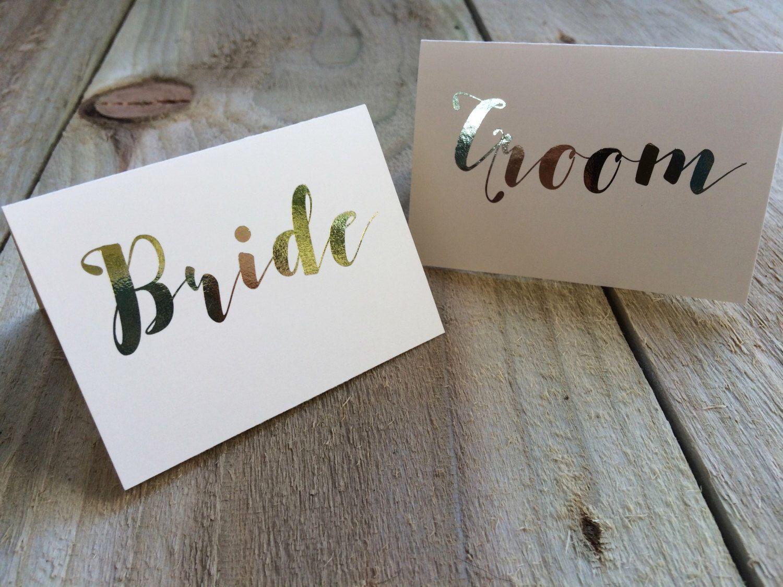 gold foil elegant place cards tent cards wedding place