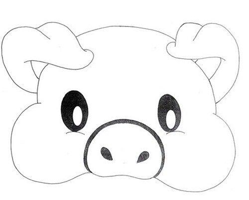Cerdito Plantilla Mascara De Animales Molde De Animales Animales Para Imprimir