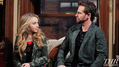 Rider Strong and Sabrina Carpenter.