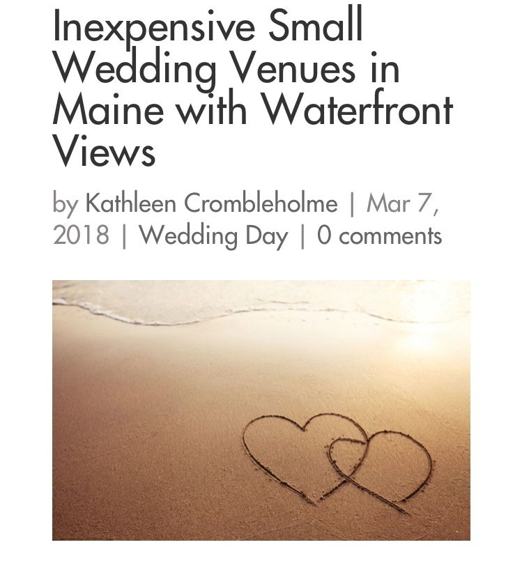 6 Inexpensive Small Wedding Venues in Maine with ...