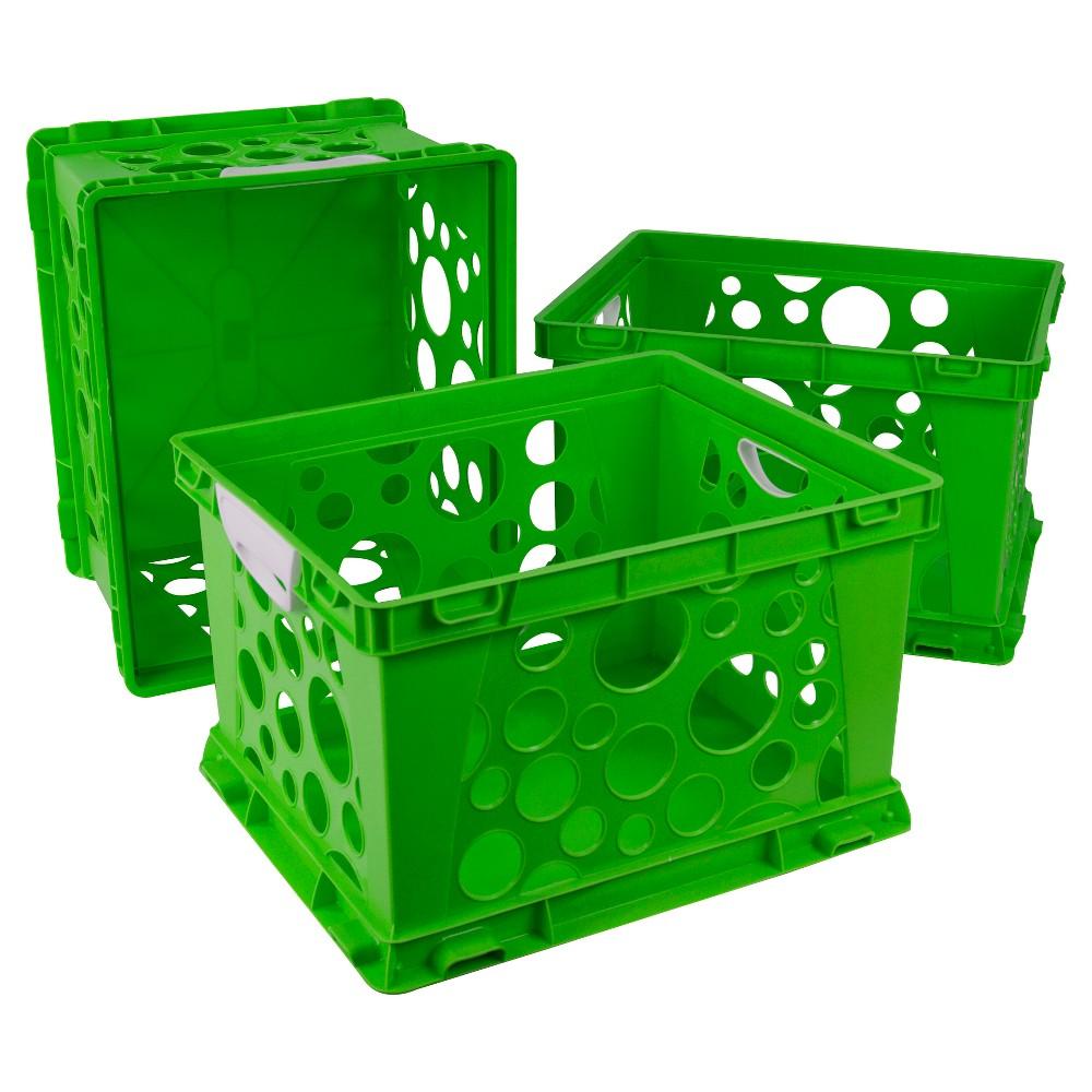 Storex Plastic Storage Crate 3ct Blue Crate Storage Crates Plastic Crates