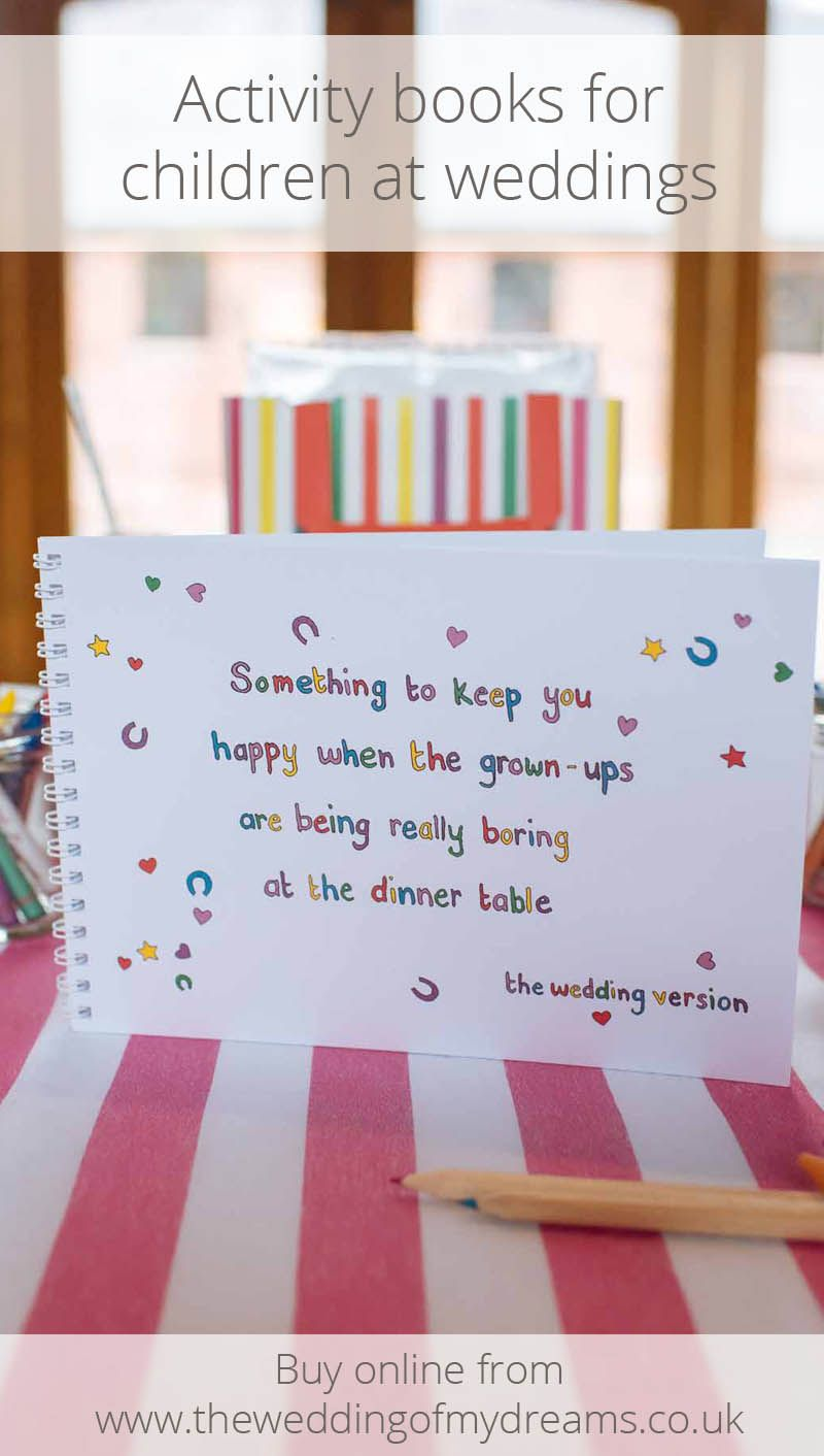 Childrens Wedding Activity Book Something To Keep You Happy Ring