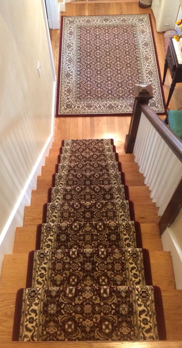 Roslindale Stair Runner Installation Matching Area Rug