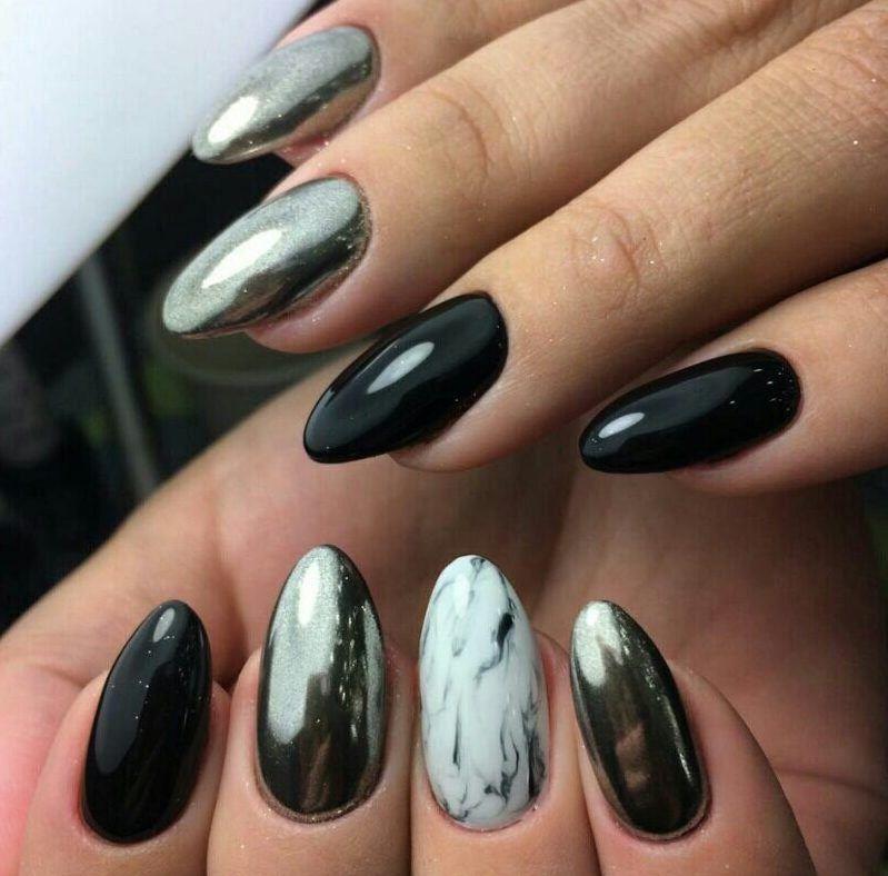 картинки черных ногтей с втиркой искусство