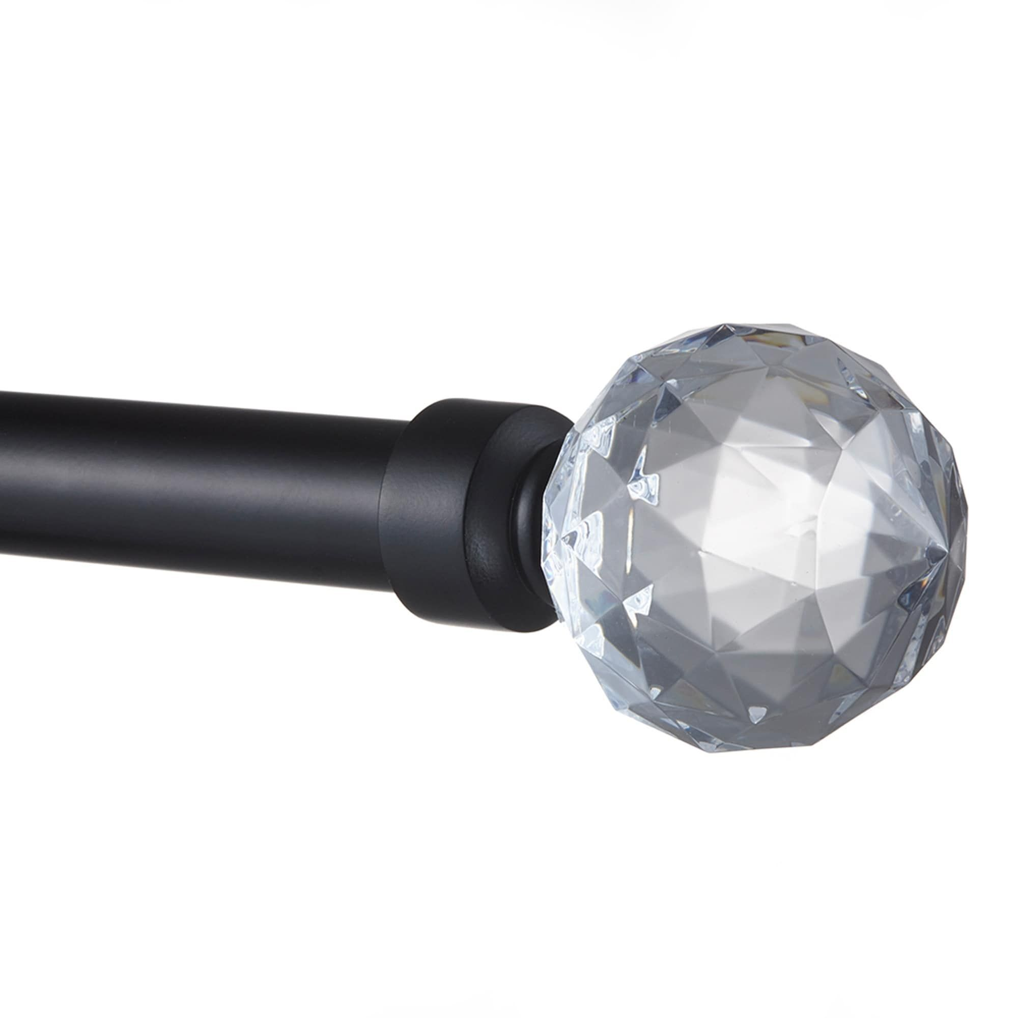 Ati Home Crystal Ball 1 Curtain Rod And Finial Set With Images
