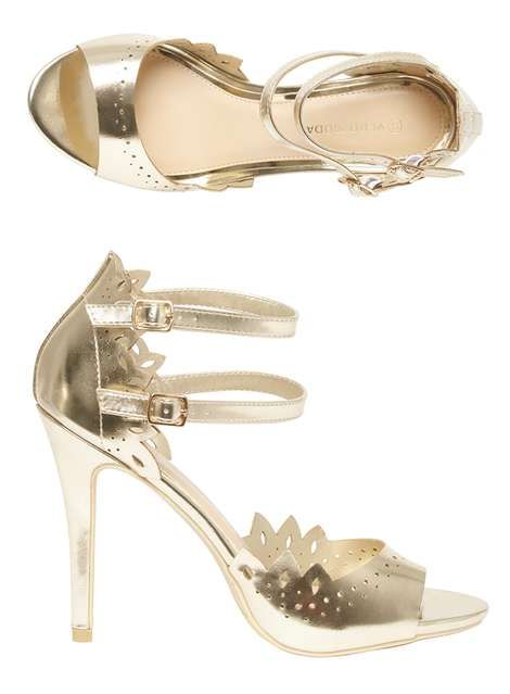 94e93610ee3af7 Vero Moda Gold 'Amsterdam' Sandals | DP | Shoes & Accessories ...