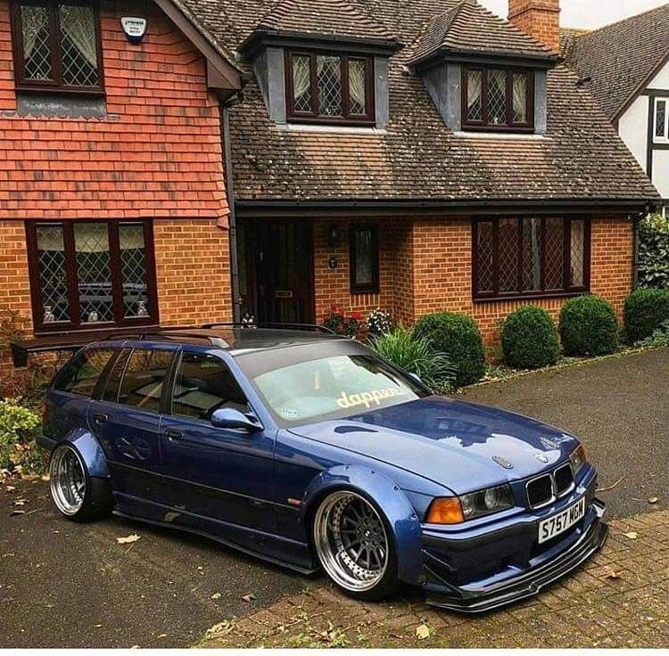 BMW E36 3 series Touring widebody slammed | BMW E36 | Bmw