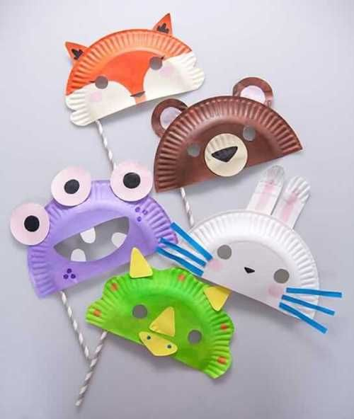 faschingsmasken basteln diy ideen fa 1 4 r masken aus papptellern mit kindern