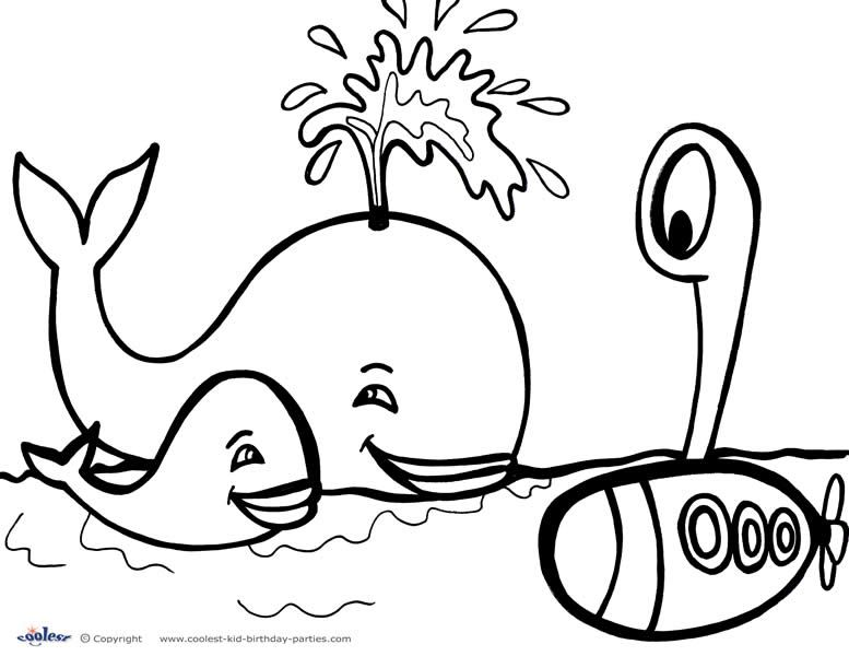 Printable Under The Sea Coloring Page 4 Ocean Theme Party Free