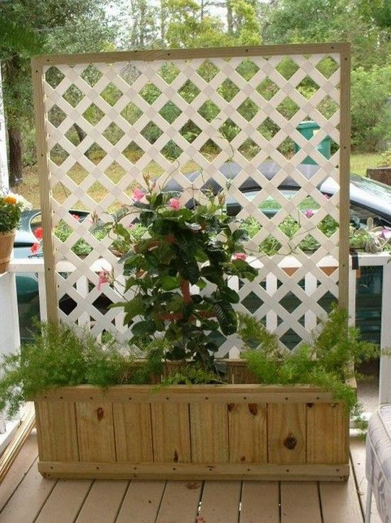 Trellis planter box planters screens and super easy for Trellis planter garden screen
