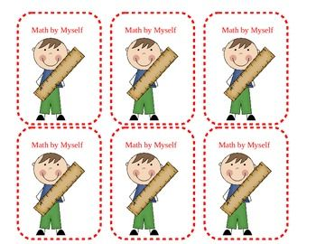 Here's a set of Math & Literacy station cards that follow the Daily 5 Model. Also includes a weekly station check-in sheet.