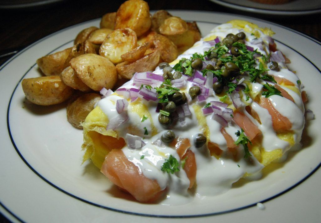 Mimi S Cafe Smoked Salmon Omelet The Perfect Bite Pinterest