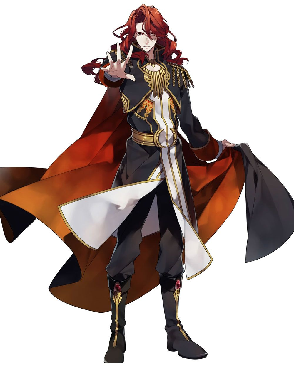 Male Human Wizard Noble Blonde Hair Rich Clothes Fire Emblem