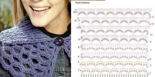 Bufandas y gráficos gratuitos, en ganchillo! Bufandas en crochet con ...