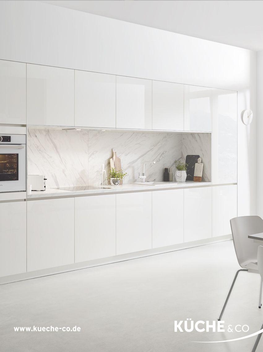 Design Küche in Weiß Küche Pure Marmor  Moderne weiße küchen