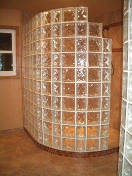 Glass Block Showers Porcelain And Glass With Glass Block Master Bathroom Bathroom