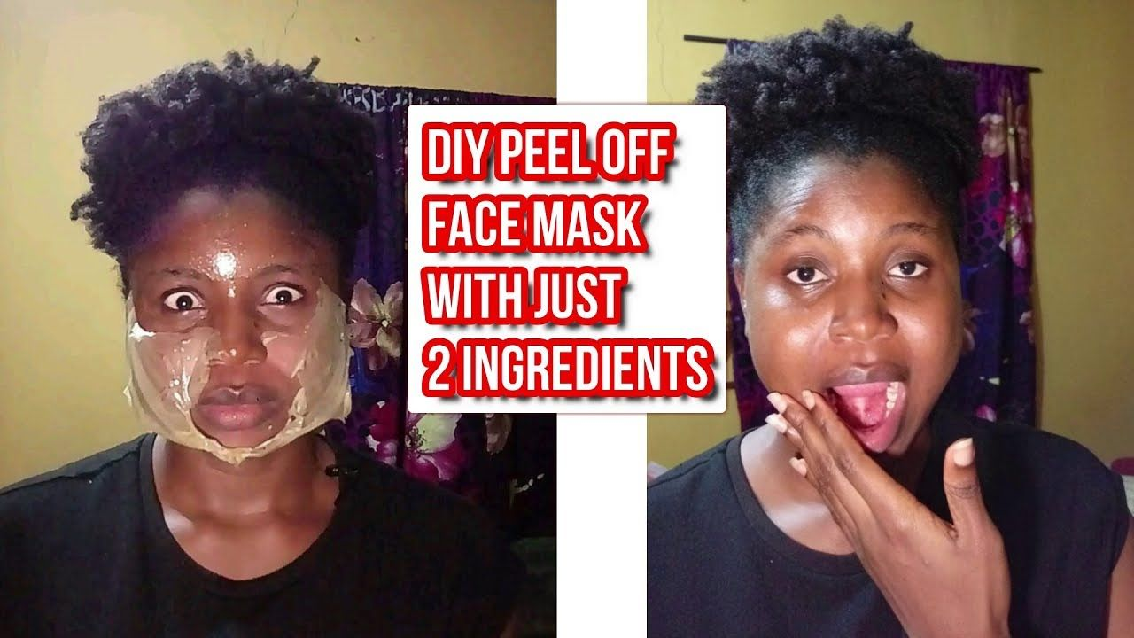Diy face peel off mask no eggs no charcoal peeloffmask