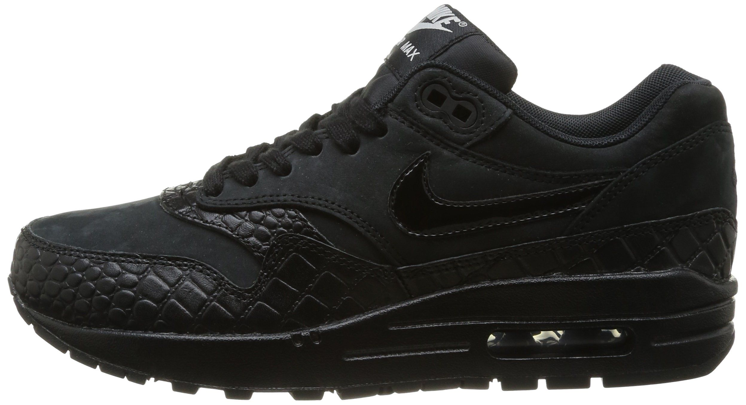 Nike Air Max 1 Prm, Chaussures de running femme - Multicolore (Black/Black