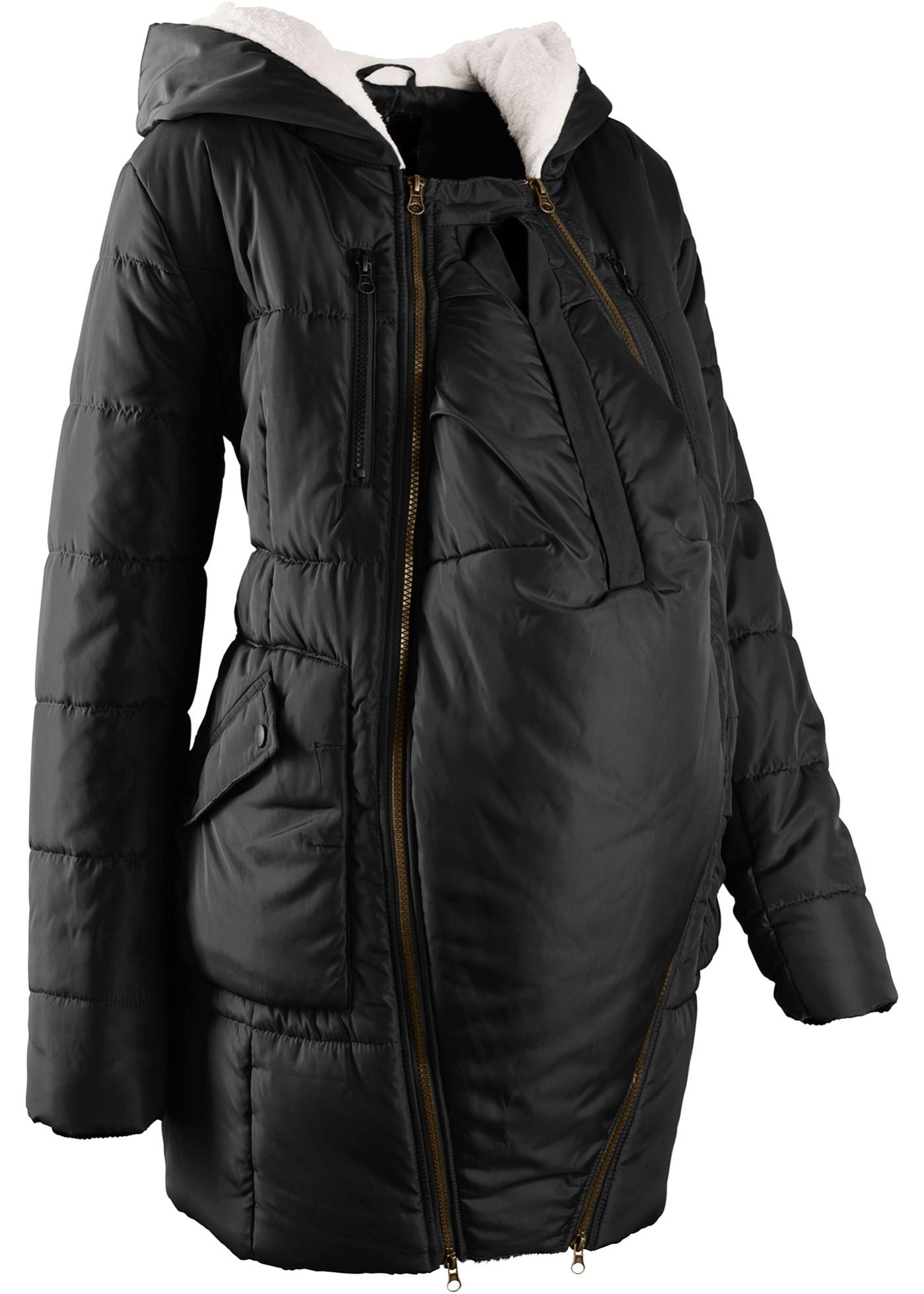 Gefutterte Umstandsjacke Mit Baby Einsatz Jacken Wattierte Jacke Und Kinderkleidung