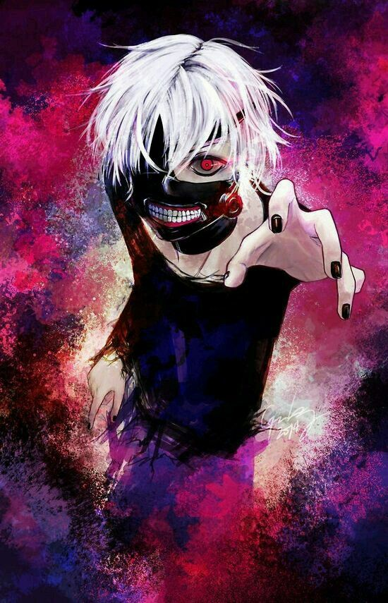 Kaneki Ken White Hair Anime Boy Tokyo Ghoul