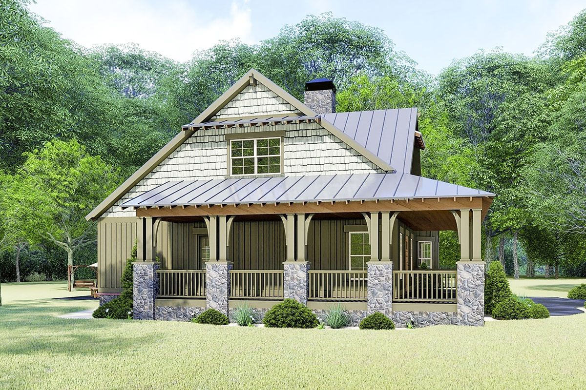 Plan 70630mk Rustic Cottage House Plan With Wraparound Porch Cottage House Plans Rustic Cottage Cottage Homes