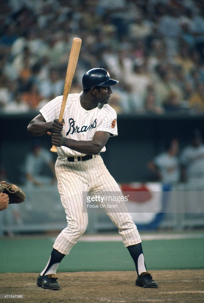 Rico Carty #25 of the Atlanta Braves and the National League AllStars bats against the American League All Stars during Major League Baseball AllStar game July 14, 1970 at Riverfront Stadium in Cincinnati, Ohio. The National League won the game 5-4.