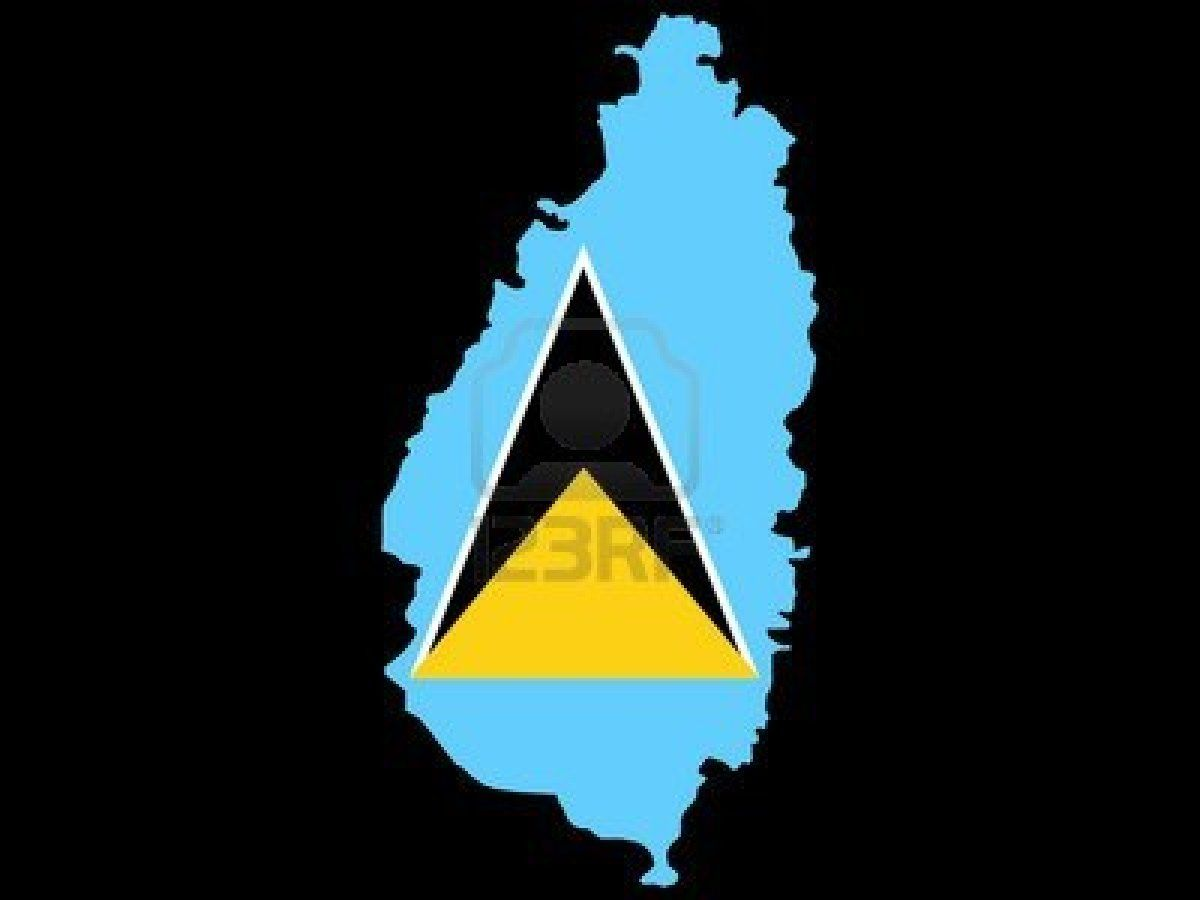 Map Of St Lucia And St Lucian Flag Illustration Saint Lucian Flag St Lucian St Lucia