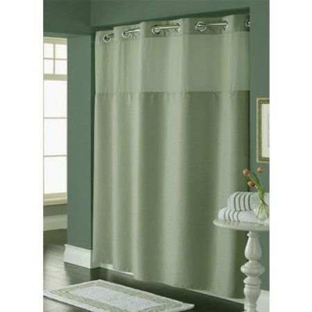 Amazon Hookless Diamond Pique Mystery Shower Curtain Sage Green Home