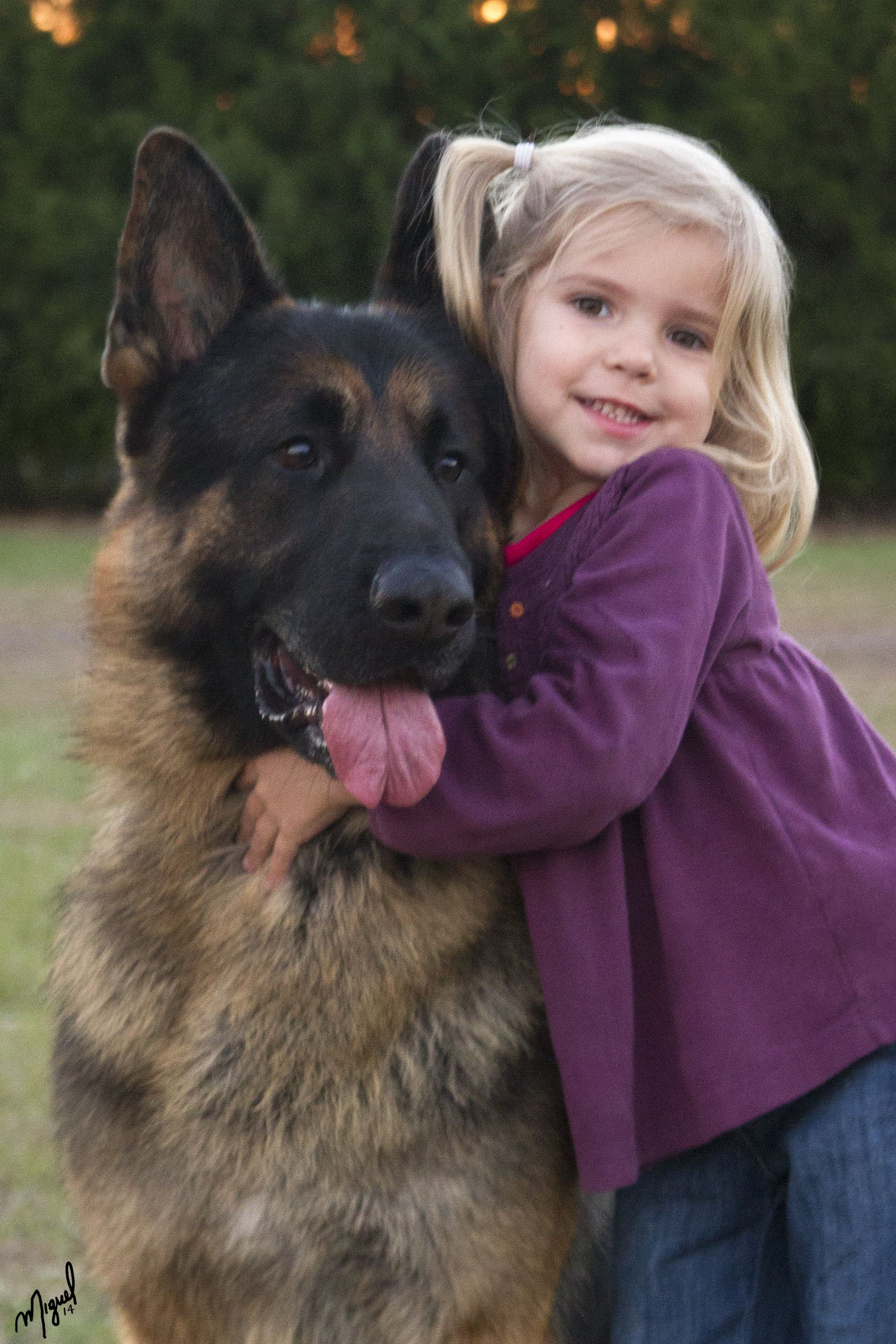 GSD With Girl German Shepherds And Human Kids Pinterest